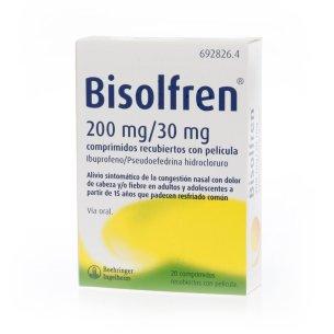 BISOLFREN 200 mg/30 mg 20 COMPRIMIDOS RECUBIERTO