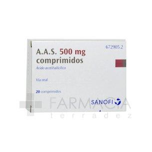 AAS 500 MG 20 COMPRIMIDOS