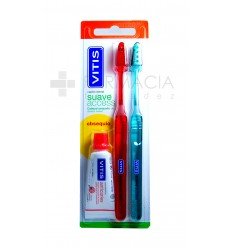 CEPILLO DENTAL ADULTO VITIS ACCESS SUAVE DUPLO