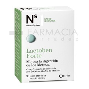 NS LACTOBEN FORTE 30 COMP MASTICABLES