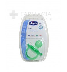 CHICCO CHUPETE SILIC PHYSIOSOFT 12M VERDE/MORAD