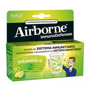 AIRBORNE EFERVESCENTES LIMON 10 COMP
