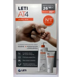 LETI AT4 PACK GEL BAÑO750 CREMA  CORPORAL 200ML