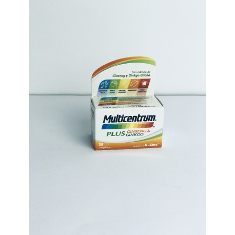 MULTICENTRUM PLUS GINSENG Y GINKGO 30 COMP