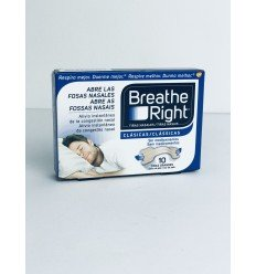 TIRAS NASALES BREATHE RIGHT GRANDE 10 UN