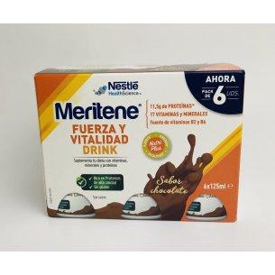 MERITENE DRINK PACK CHOCOLATE 6X125ML