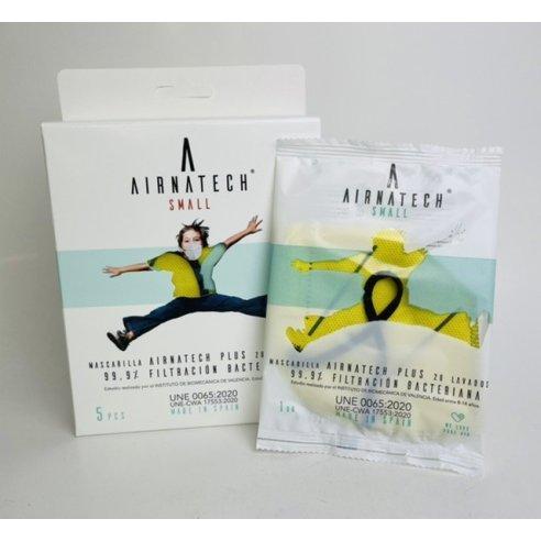 AIRNATECH MASCARILLA INFANTIL AMARILLO 5 UDS